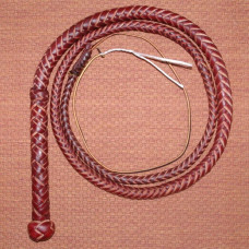 8 Foot 8 Plait Red Hide Bull Whip