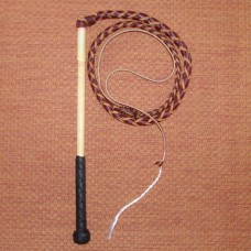 3 Foot 4 Plait Red Hide Stock Whip