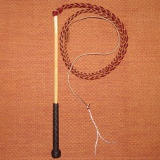 4 Foot 4 Plait Red Hide Stock Whip