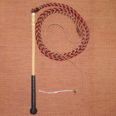 6 Foot 4 Plait Red Hide Stock Whip